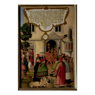 Illustration of Christ's teaching Poster