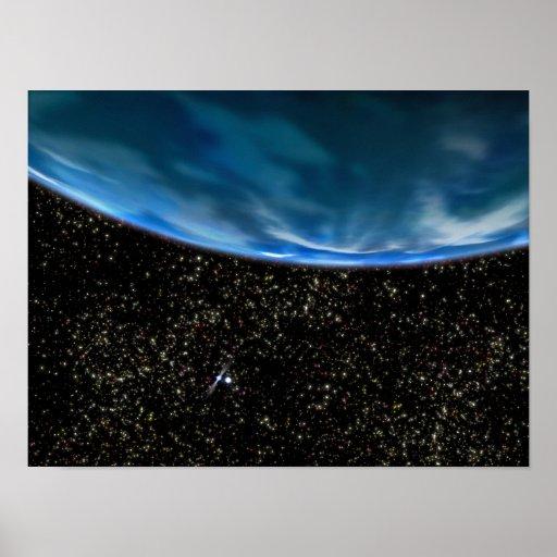 Illustration of Earth's horizon Print