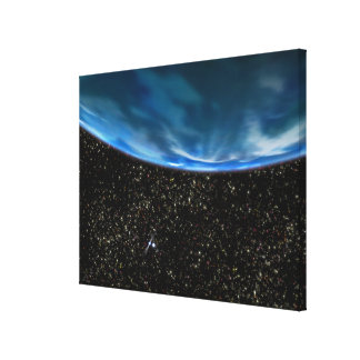 Illustration of Earth's horizon Stretched Canvas Print