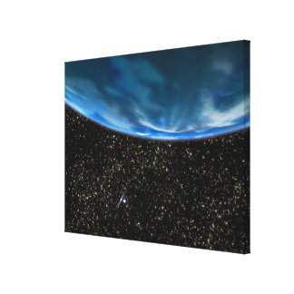 Illustration of Earth's horizon Stretched Canvas Prints