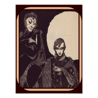 Illustration of Faust by Goethe (1925) 12 x 16 Poster