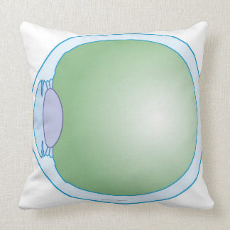Illustration of Human Eye Throw Pillow