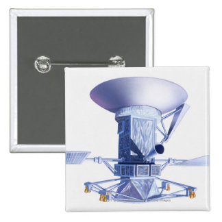 Illustration of Magellan spacecraft 2 Inch Square Button