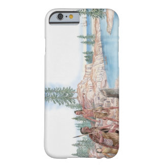 Illustration of Native Americans pointing with Barely There iPhone 6 Case