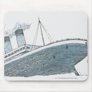 Illustration of passenger falling from the Titanic Mouse Pad
