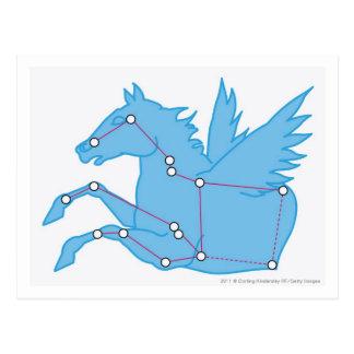 Illustration of Pegasus constellation Postcard
