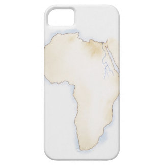 Illustration of simple outline map of Africa iPhone 5 Cover