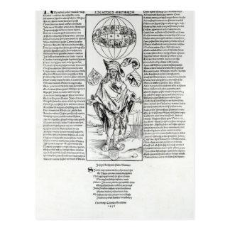 Illustration of Syphilis, 1496 Postcard