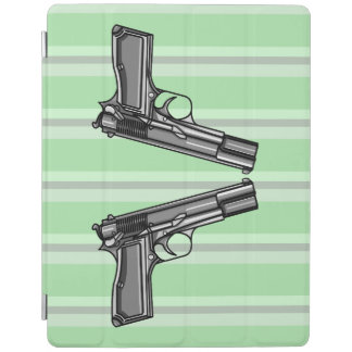 Illustration of two pistols iPad cover
