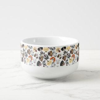 Illustration Pattern Dogs Soup Mug