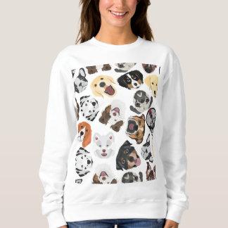 Illustration Pattern Dogs Sweatshirt