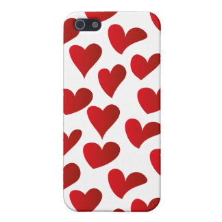Illustration pattern painted red heart love case for the iPhone 5
