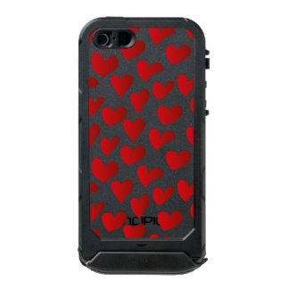 Illustration pattern painted red heart love incipio ATLAS ID™ iPhone 5 case