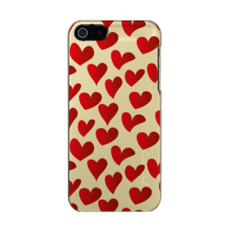 Illustration pattern painted red heart love incipio feather® shine iPhone 5 case
