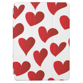Illustration pattern painted red heart love iPad air cover