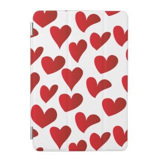 Illustration pattern painted red heart love iPad mini cover