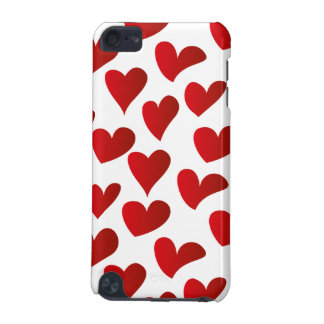 Illustration pattern painted red heart love iPod touch 5G cases