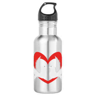 Illustration peace doves with heart 532 ml water bottle