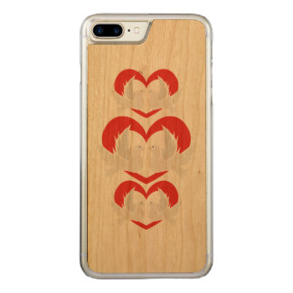 Illustration peace doves with heart carved iPhone 8 plus/7 plus case
