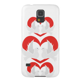 Illustration peace doves with heart case for galaxy s5