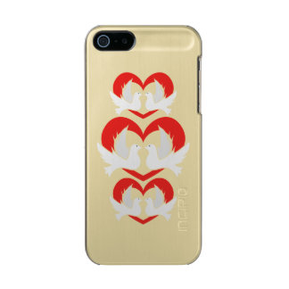 Illustration peace doves with heart incipio feather® shine iPhone 5 case