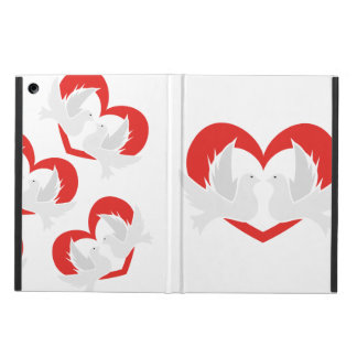Illustration peace doves with heart iPad air cover