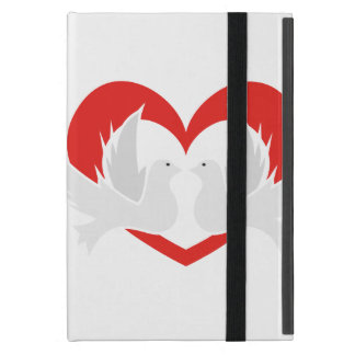 Illustration peace doves with heart iPad mini case