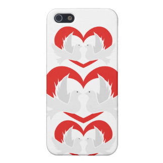 Illustration peace doves with heart iPhone 5 covers