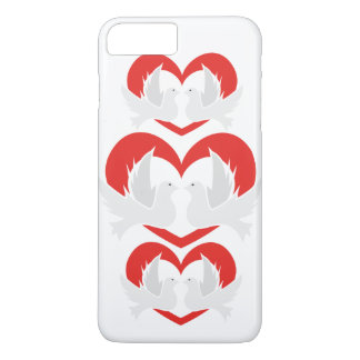 Illustration peace doves with heart iPhone 8 plus/7 plus case