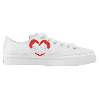 Illustration peace doves with heart Low-Top sneakers