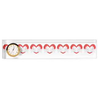 Illustration peace doves with heart nameplate