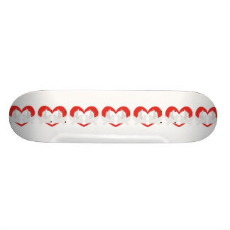 Illustration peace doves with heart skateboard decks