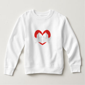 Illustration peace doves with heart sweatshirt