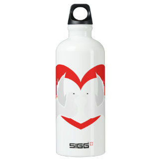 Illustration peace doves with heart water bottle