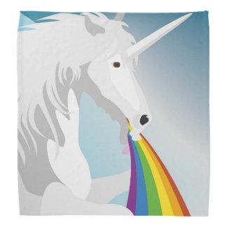Illustration puking Unicorns Bandana