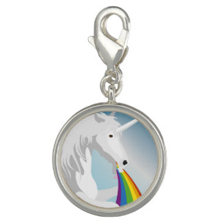 Illustration puking Unicorns Charm