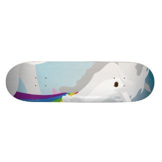 Illustration puking Unicorns Custom Skateboard