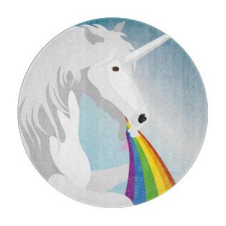 Illustration puking Unicorns Cutting Board