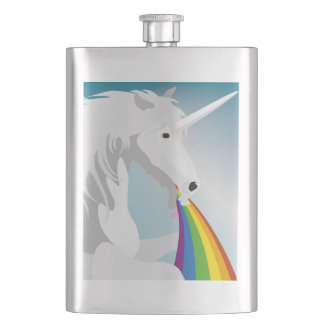 Illustration puking Unicorns Flask