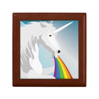 Illustration puking Unicorns Gift Box