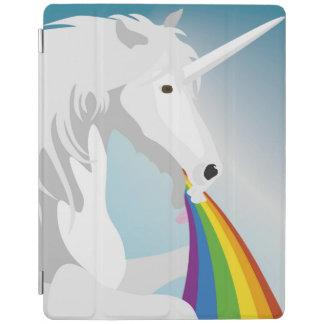 Illustration puking Unicorns iPad Cover