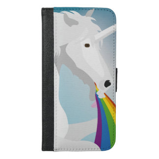 Illustration puking Unicorns iPhone 6/6s Plus Wallet Case