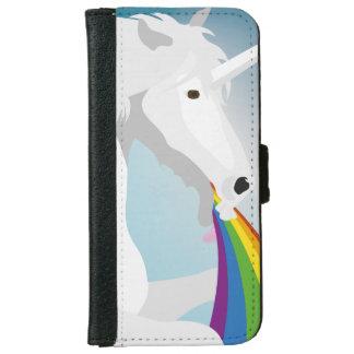 Illustration puking Unicorns iPhone 6 Wallet Case