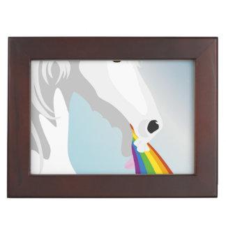 Illustration puking Unicorns Keepsake Box