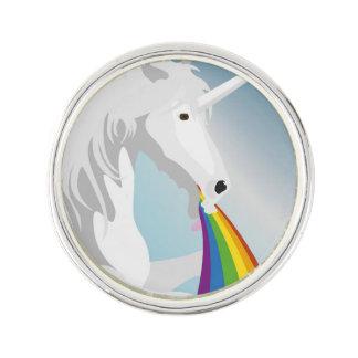 Illustration puking Unicorns Lapel Pin
