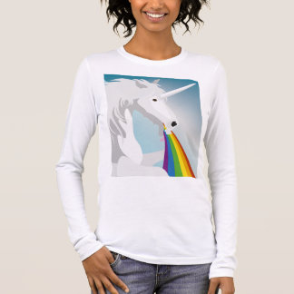 Illustration puking Unicorns Long Sleeve T-Shirt