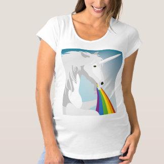 Illustration puking Unicorns Maternity T-Shirt