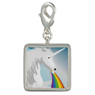 Illustration puking Unicorns Photo Charm