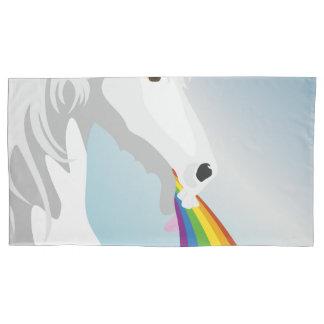 Illustration puking Unicorns Pillowcase