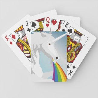 Illustration puking Unicorns Playing Cards